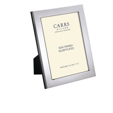 "Carrs Photo Frame Silver Plated 7"" x 5"""