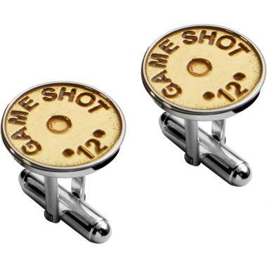 Carrs Silver & Gold Cartridge Cufflinks