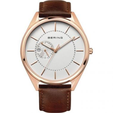 Bering Automatic Rose on Leather 43mm