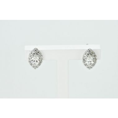 Marquise Diamond Cluster 18ct Earrings