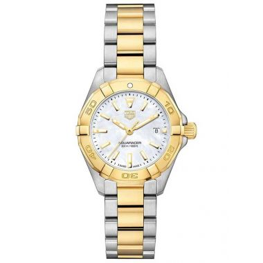 Tag Heuer Aquaracer Ladies Steel & Yellow 27mm