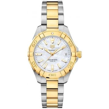 Tag Heuer Aquaracer Ladies Steel & Yellow 32mm