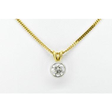 Rub Over Single Stone 1.50ct Diamond Pendant