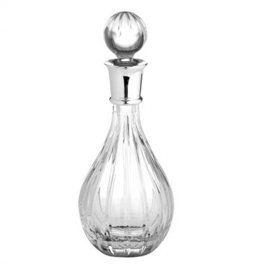 Carrs Linear Cut Sterling Silver Wine Decanter