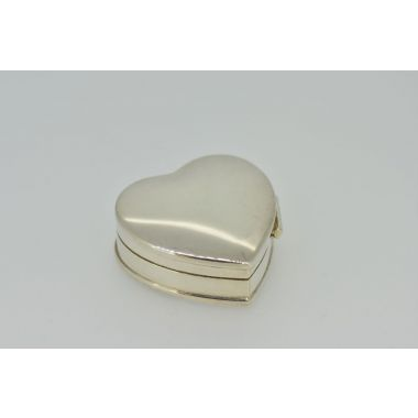 Carrs Sterling Silver Heart Pill Keepsake Box