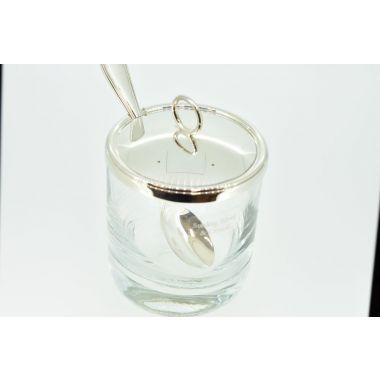 Carrs Silver Lid & Spoon Preserve Jar