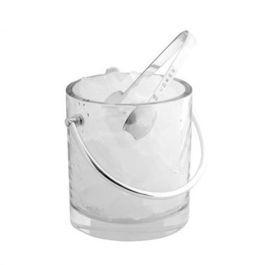 Carrs Silver Ice Bucket and Tongs