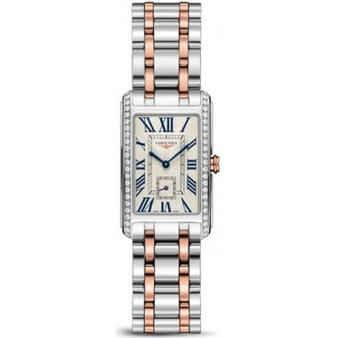Longines DolceVita Steel & Rose Diamonds 32mm