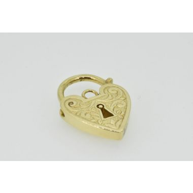 Engraved 9ct Padlock Charm