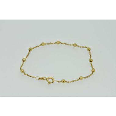Bead & Chain Silver Gilt Bracelet