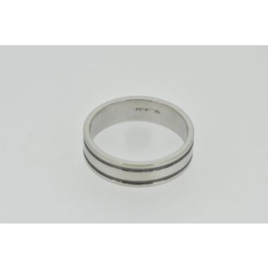 18ct 6mm Two Lined Band