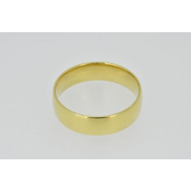 18ct 6mm Court Plain Band
