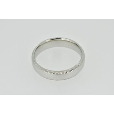 Platinum Beaded Edge Band