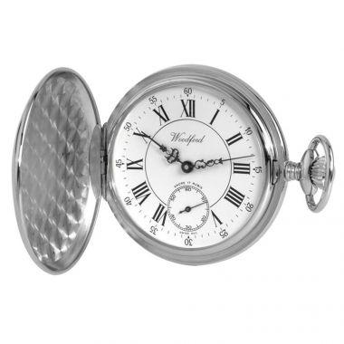 Woodford Steel Full Hunter Pocket Watch
