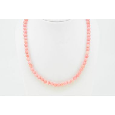 Light Pink Coral Beads with Magnetic Clasp