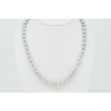 "Single Row Cultured 18"" Pearls"