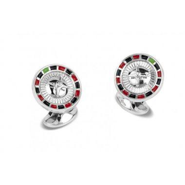 Deakin & Francis Silver Roulette Cufflinks