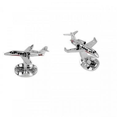 Deakin & Francis Silver Jet Cufflinks