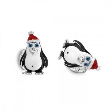 Deakin & Francis Silver Penguin Cufflinks