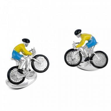 Deakin & Francis Silver Bike Cufflinks