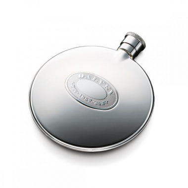 Dalvey Classic Compact Flask Stainless Detail