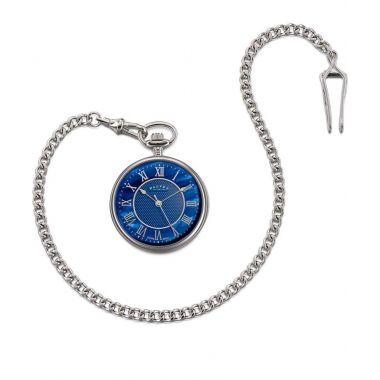 Dalvey Open Face Pocket Watch Blue MOP