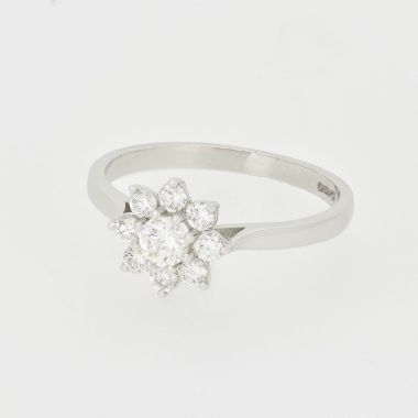 Flower Cluster 18ct Ring