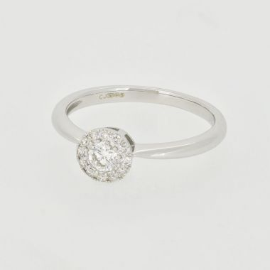 Diamond 0.28ct Cluster 18ct Ring