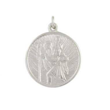 Silver Small  Round St Christopher