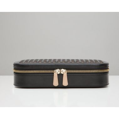 Wolf Chloe Zip Black Jewellery Case