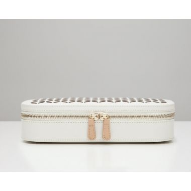 Wolf Chloe Zip Cream Jewellery Case