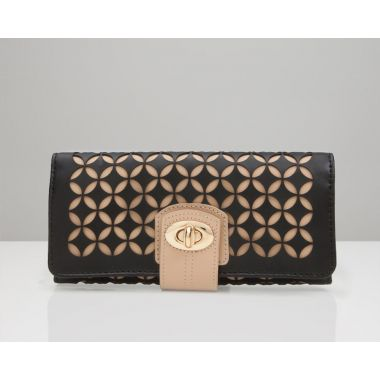 Wolf Chloe Black Jewellery Roll