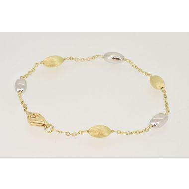 Fluted & Polished 9ct Gold Bracelet