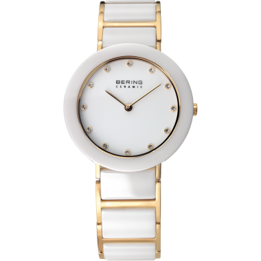 Bering Ceramic White & Steel Ladies 29mm