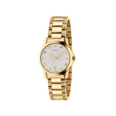 Gucci G-Timeless Gold PVD Ladies Watch 27mm