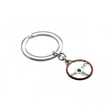 Deakin & Francis Sterling Silver Vintage Steering Wheel Key Ring
