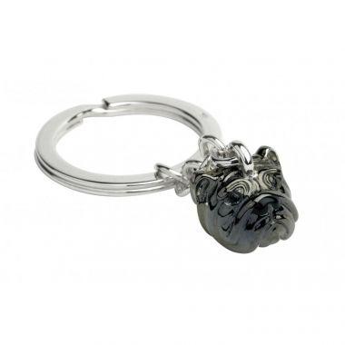 Deakin & Francis Sterling Silver Bull Dog Key Ring