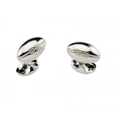 Deakin & Francis Sterling Silver Rugby Ball Cufflinks