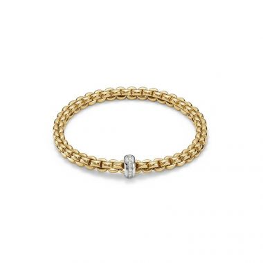 Fope EKA Flex'It Olly 18ct Yellow Bracelet