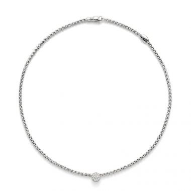 Fope EKA Tiny 18ct White Necklet