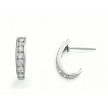 Diamond Curved 9ct Earrings