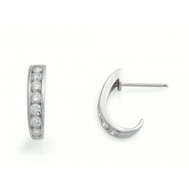 Diamond Curved 9ct Earrings