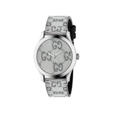 Gucci G-Timeless Quartz Stainless Steel Grey Hologram Dial Watch 38mm