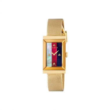 Gucci G Frame White, Red & Blue MOP Watch