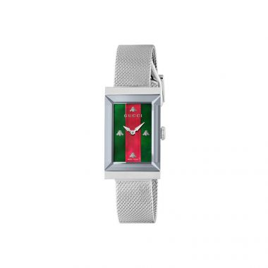 Gucci G Frame Green & Red MOP Watch 21mm