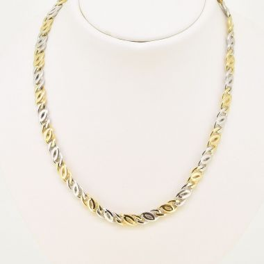 Double Curb 9ct Link Necklet
