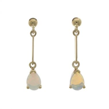 Opal Drop 9ct Earrings
