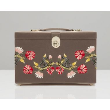 Wolf Zoe Large Mink Jewellery Box
