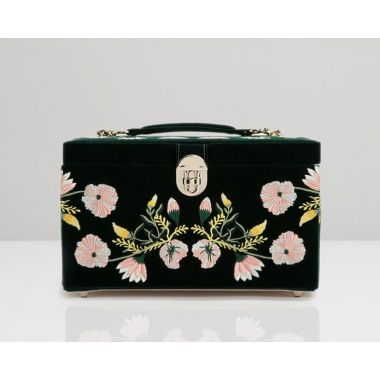 Wolf Zoe Medium Forest Green Jewellery Box