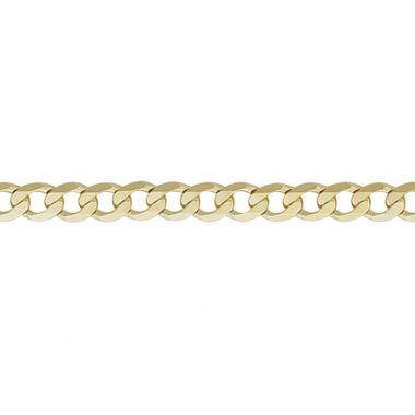 "9ct Yellow 150 Metric Curb 7.5""/19cm"